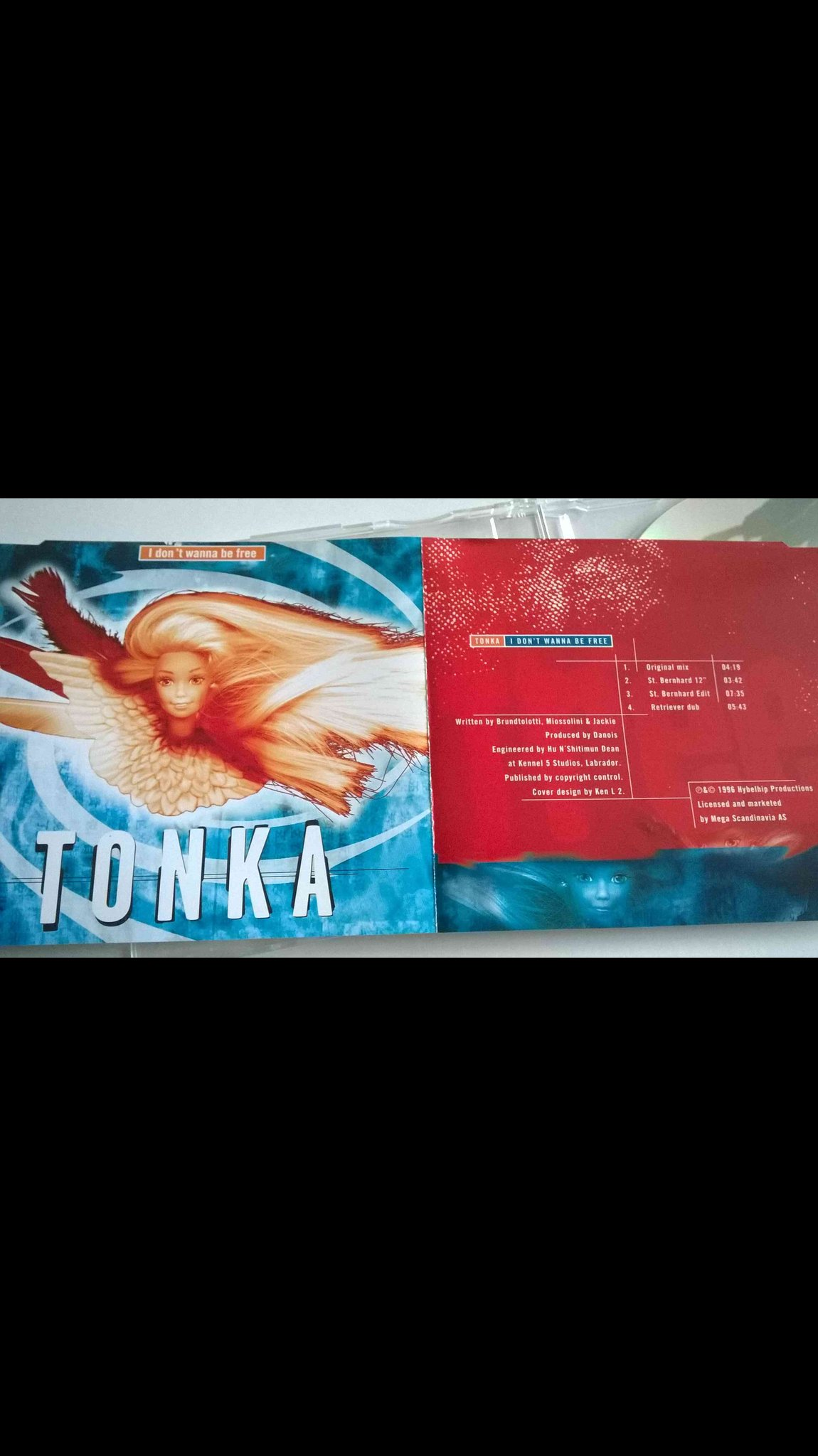 Tonka - I Don't Wanna Be Free, CD, Maxi-Single
