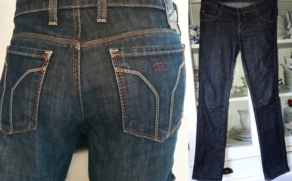 Miss Sixty fri frakt Eden blå jeans skinny low rise låg midja byxor byxa W  29 3c798e3d13cca