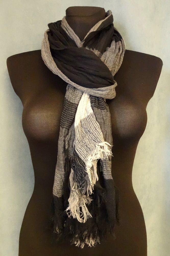 svart scarf dam