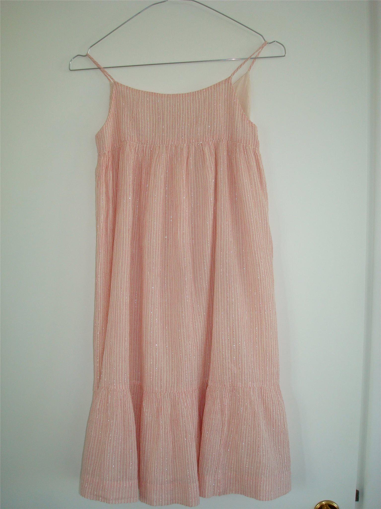 Ny Klänning Bonpoint Stl 8 år rosa   silver klänning sommar klänning Nyskick a1422146f1547