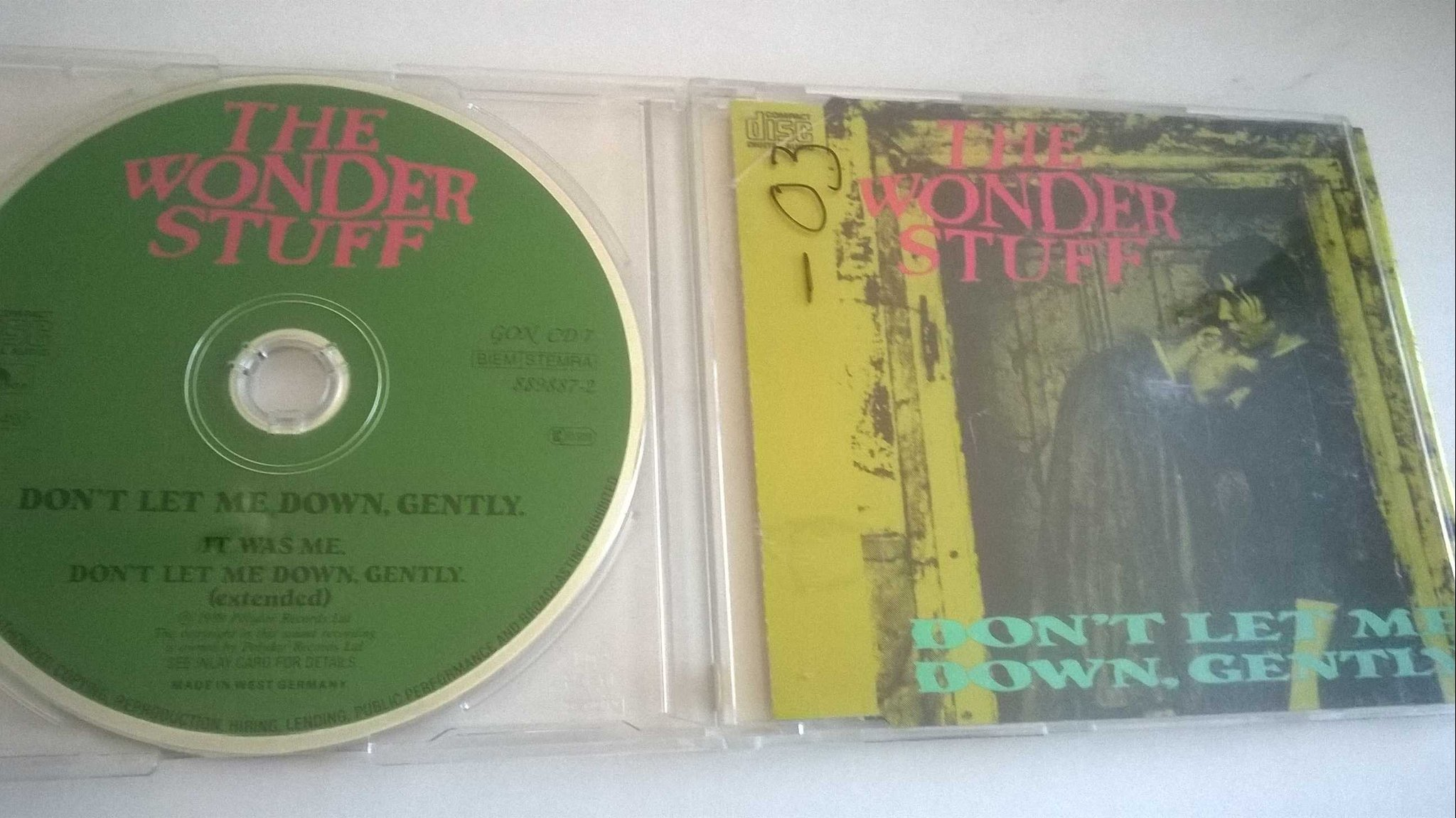 The Wonder Stuff - Don't Let Me Down, Gently, CD, Single
