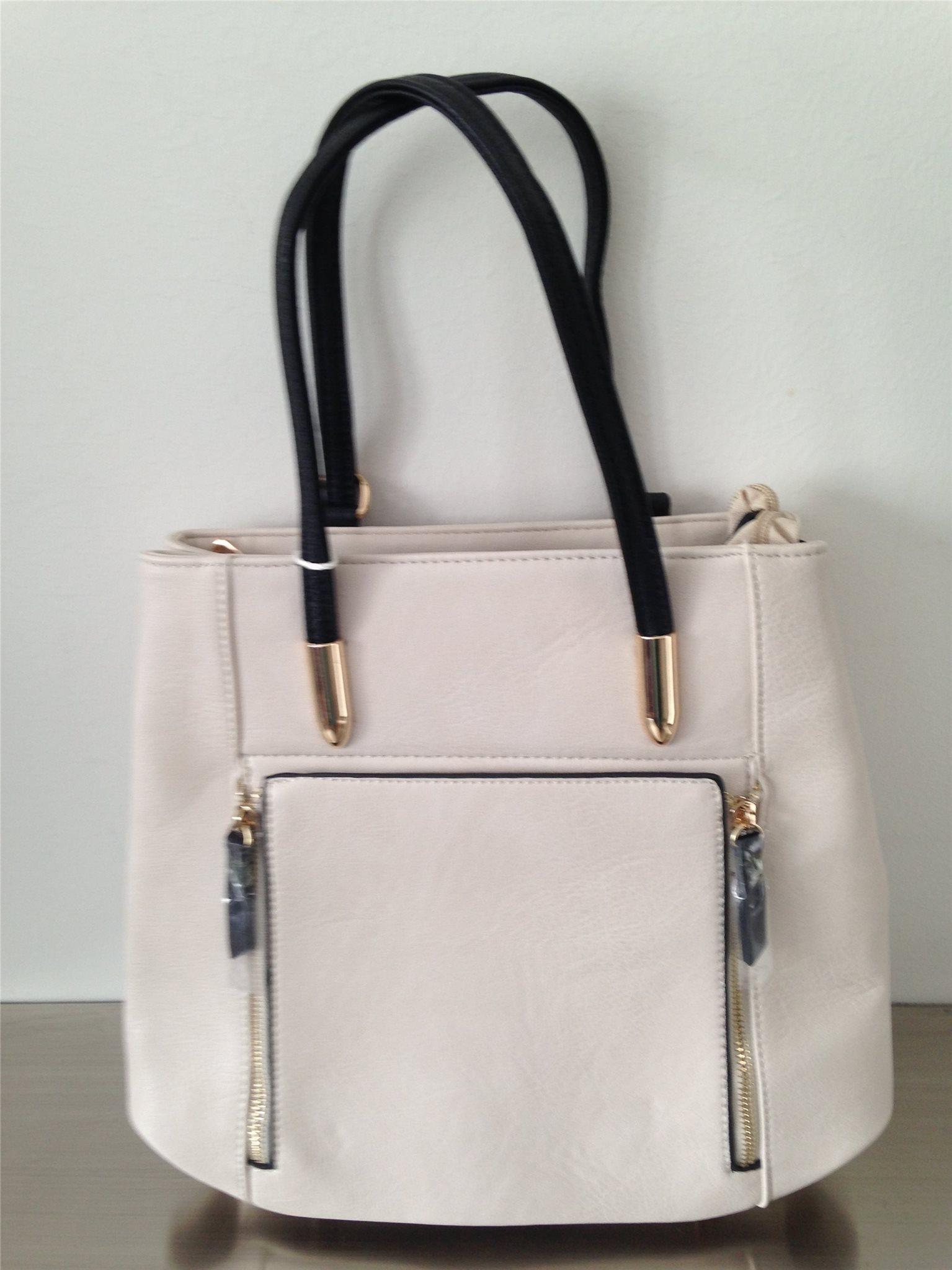 Kombinerad väska   ryggsäck creme (343298903) ᐈ Köp på Tradera 28ba76878a658
