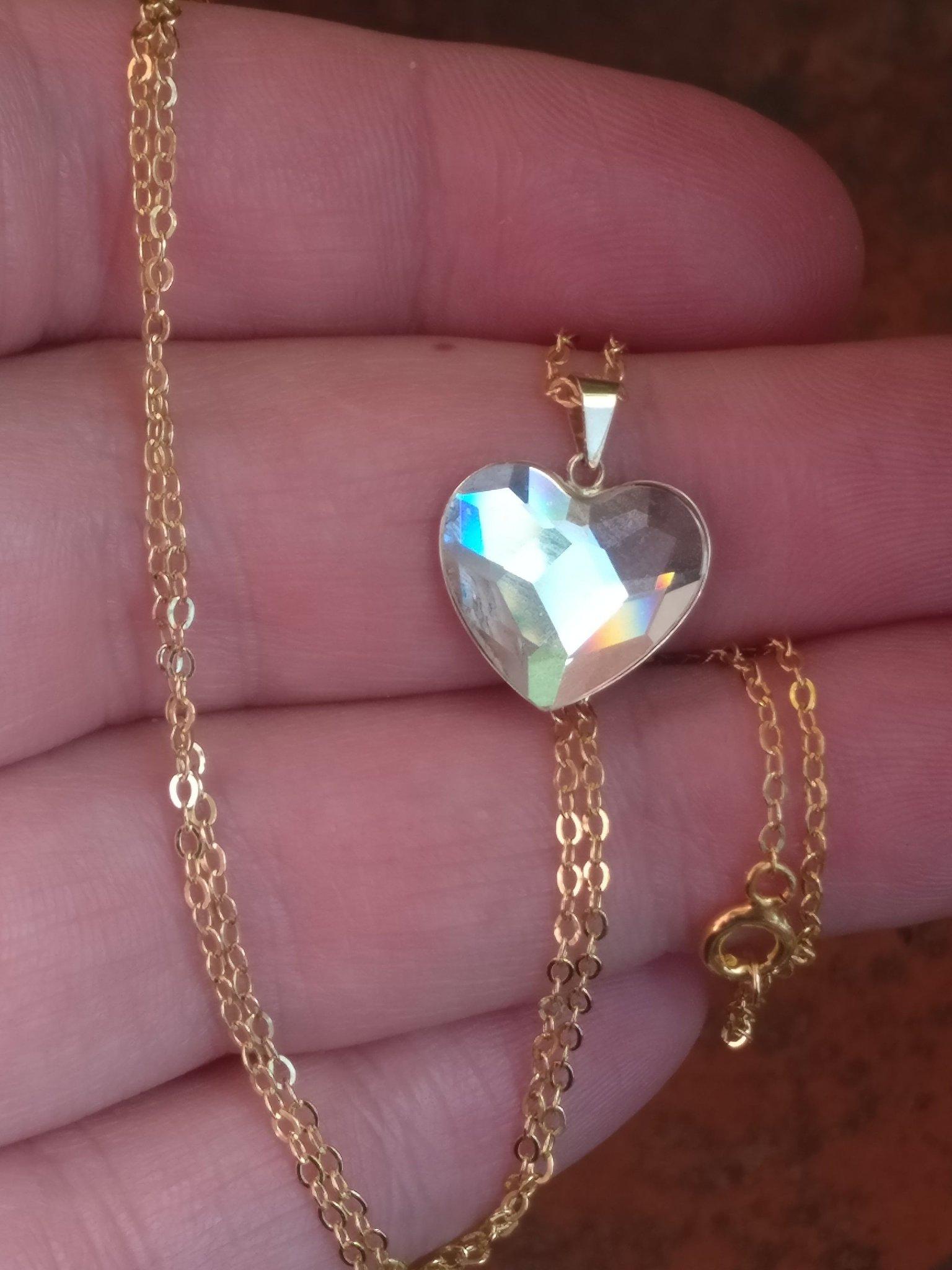Populære Swarovski hjärta 750 18k guld (356871363) ᐈ Köp på Tradera FK-64