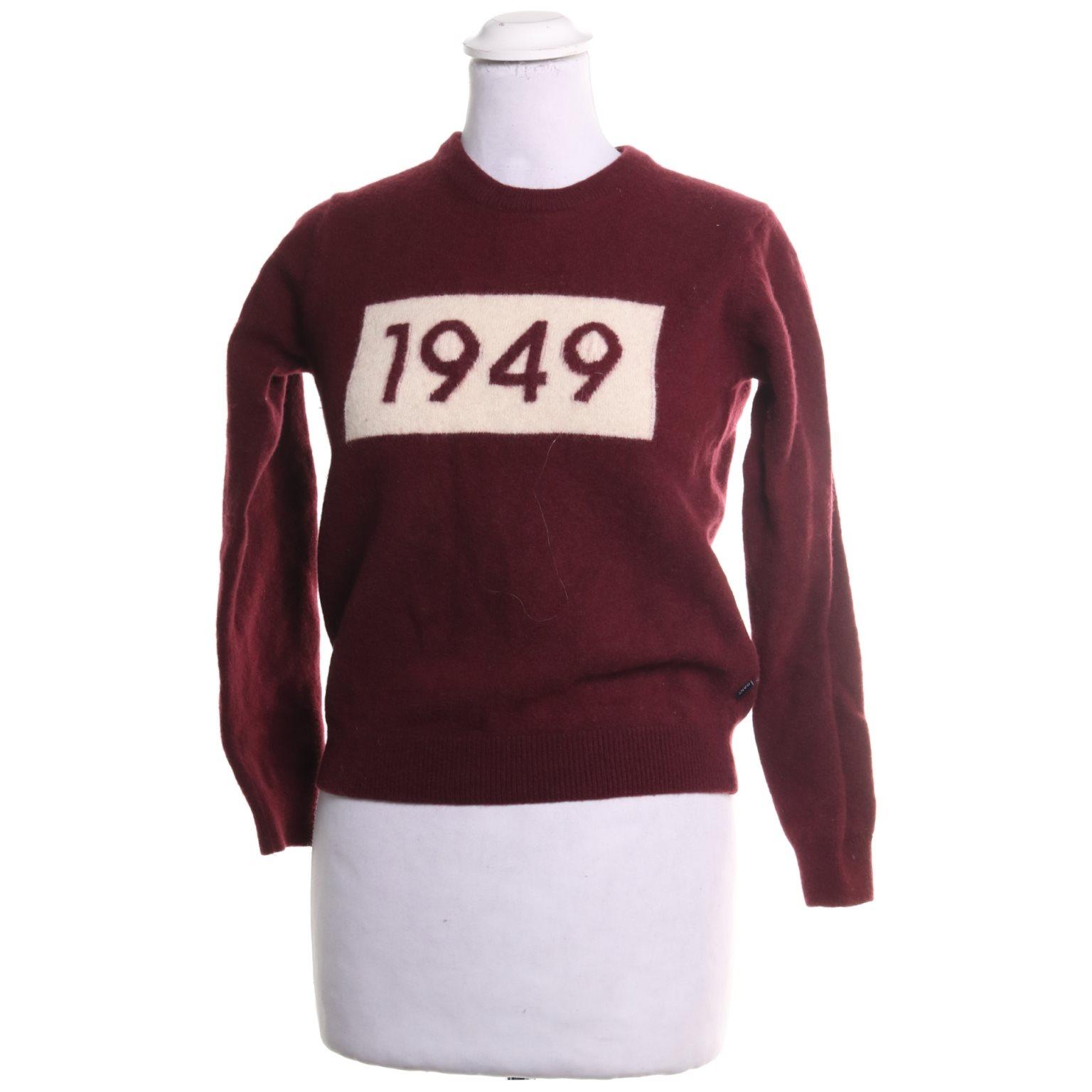 vinröd gant tröja