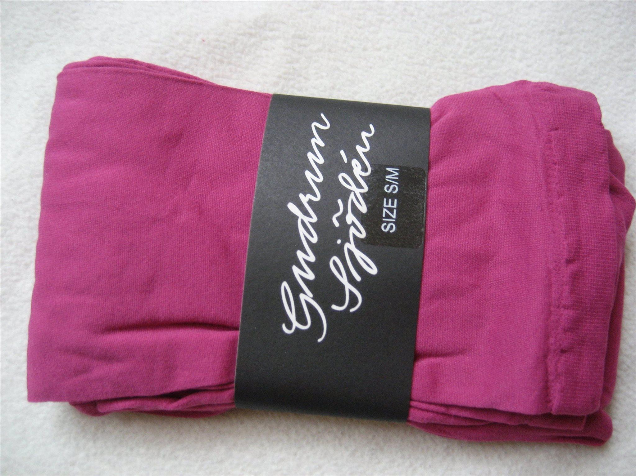 Gudrun Sjödén Sjöden leggings stl S M enfärgade rosa fuchsia nytt oanvänt ae363c935f60e