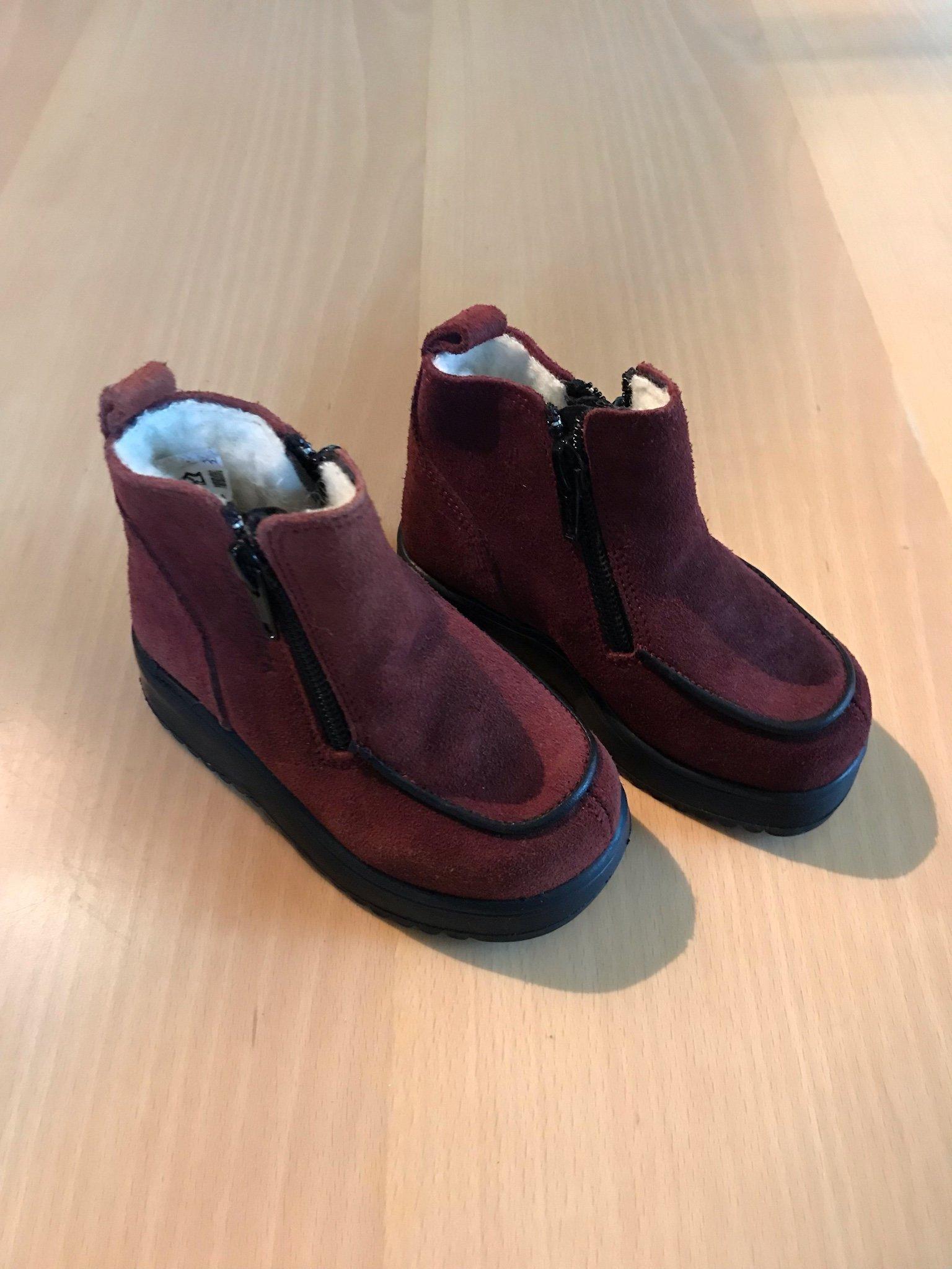 Vinter kängor skor Din sko vinröda stl 23, helt.. (364872774