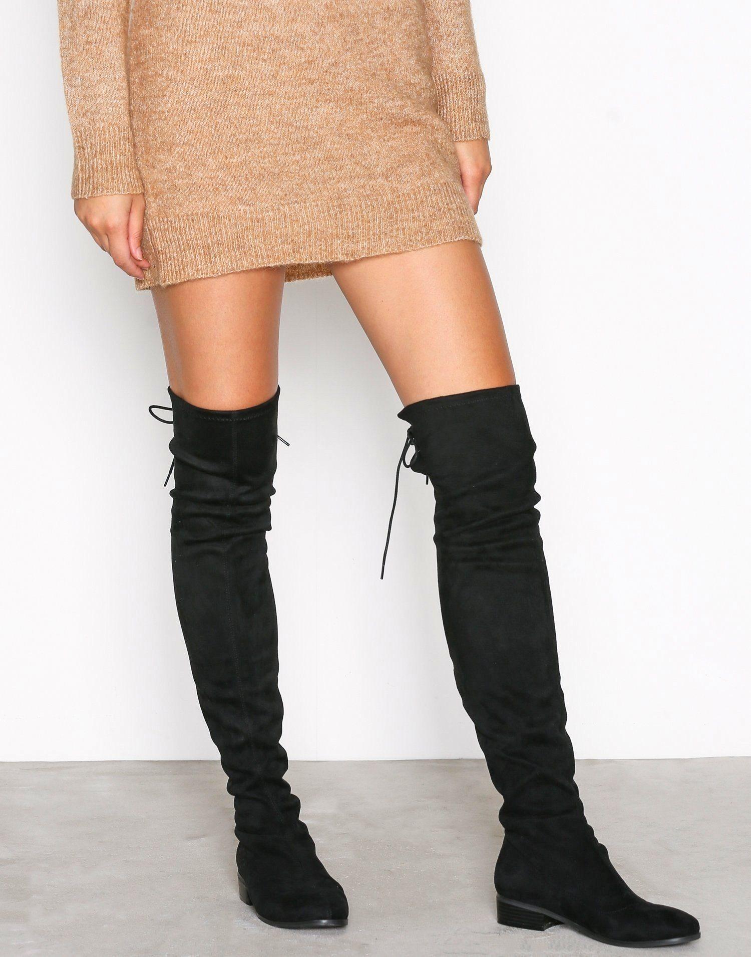 Nelly thigh high boots svarta overknee stövlar .. (337295064) ᐈ Köp ... 0f3391a1fdebb