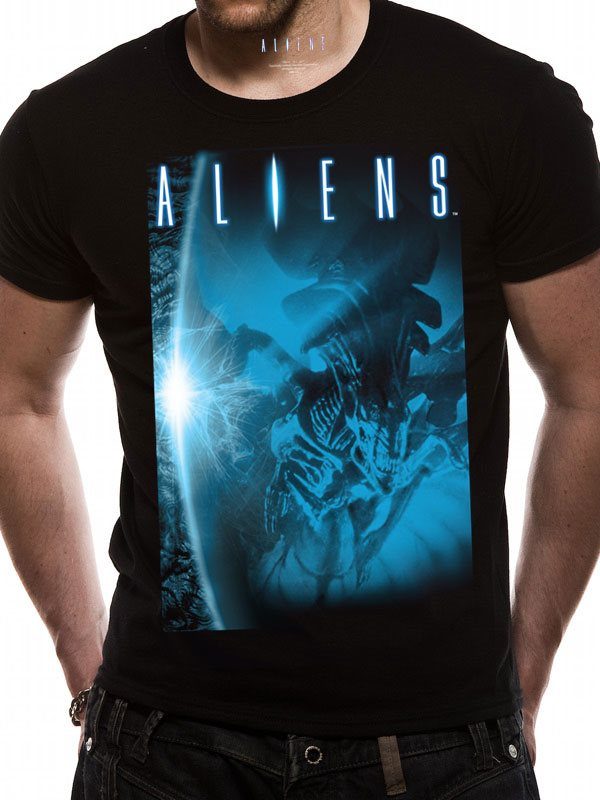 ALIEN - BLUE (UNISX)  T-Shirt - Small