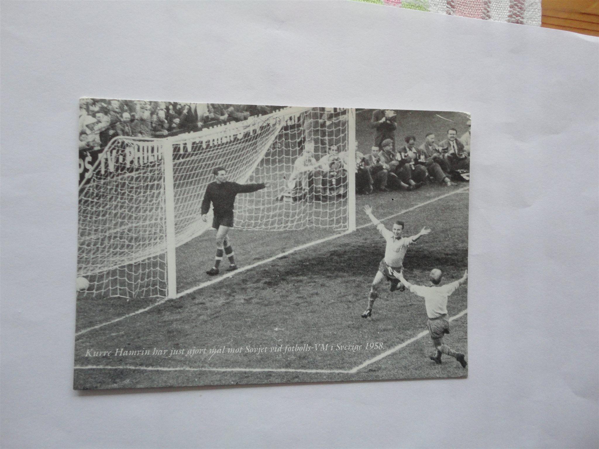 vykort VM 1958 fotboll VM 58 Nacka Kurt Hamrin samlarbild