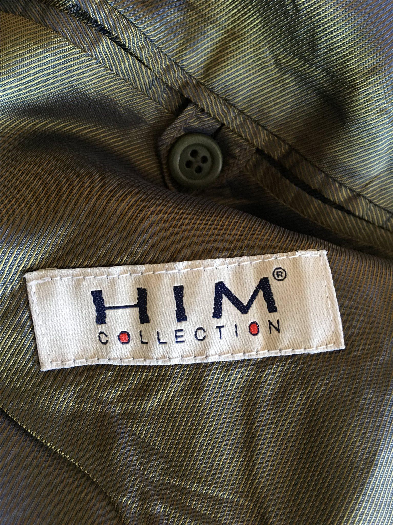HIM collection collection collection doubleknäppt kavaj i 75% ull, stl. M, grön c34442