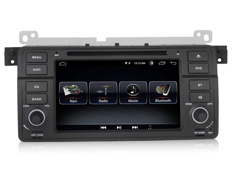 "BMW E46 3-serie Android 8.1 7"" touch GPS Bluetooth bilstereo"