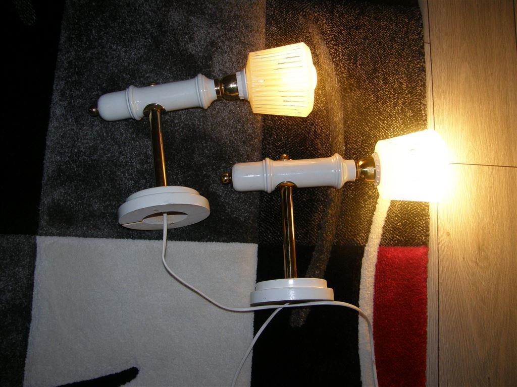 Vägglampor På Nätet : Fina st vintage sÄng vÄgglampor i mÄssing vit trÄ och glaskupa med