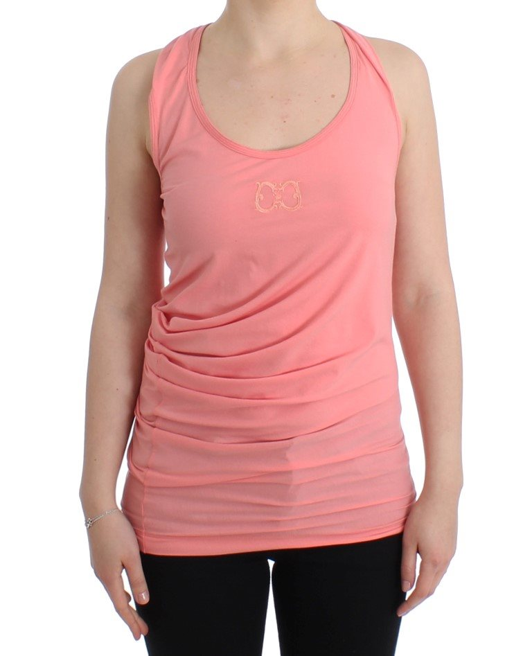 Cavalli - Pink cotton tank top