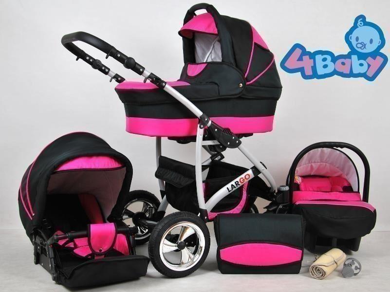 LARGO duo kombi barnvagn NY med BILBARNSTOL 26 olika färger ! REA ! FRIFRAKT !