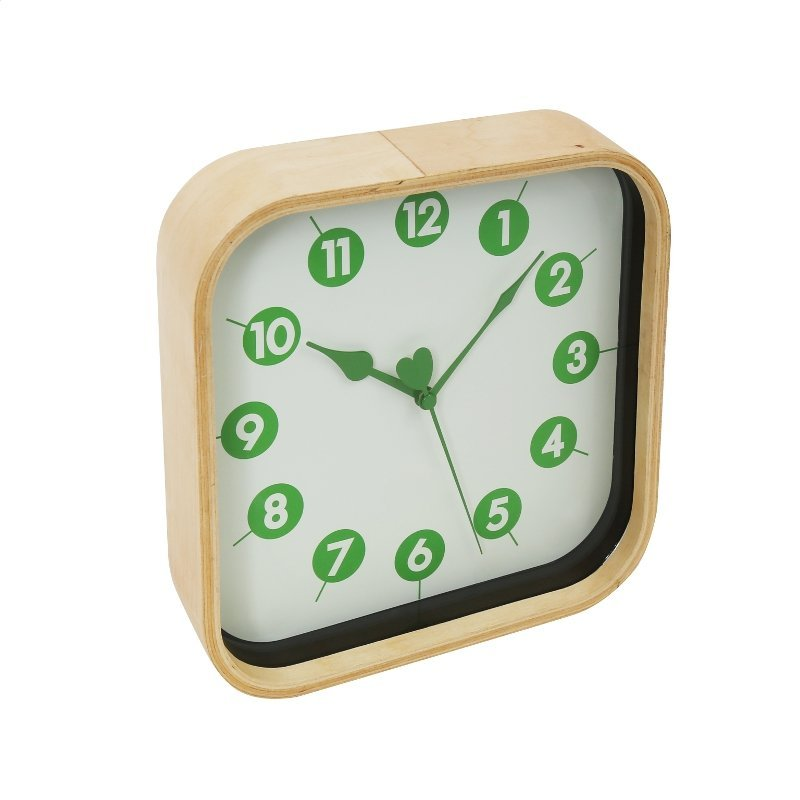 PLATINET MORNING WALL CLOCK/GREEN