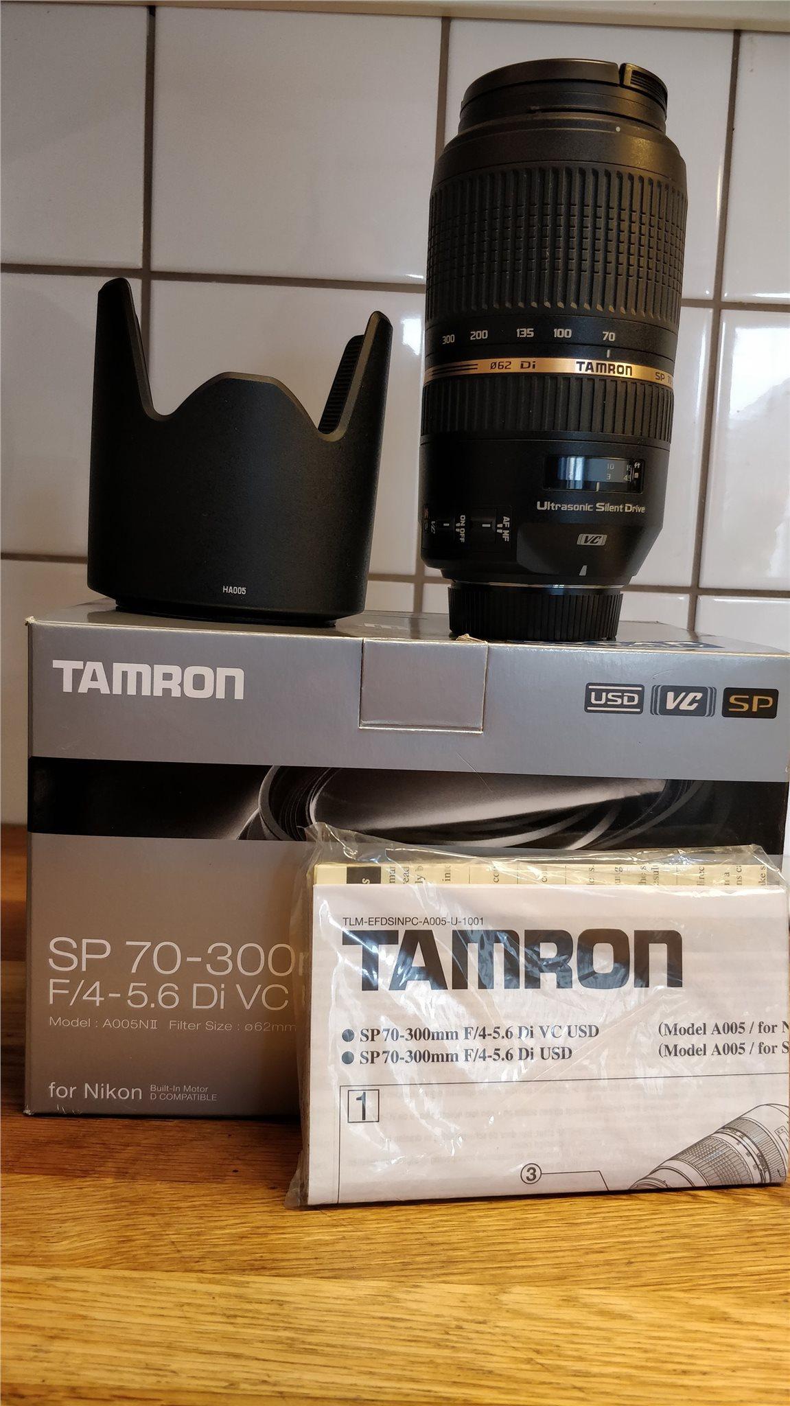 Tamron Sp 70 300mm F 4 56 Di Vc Usd 324226104 Kp P Tradera For Nikon F4 Lens