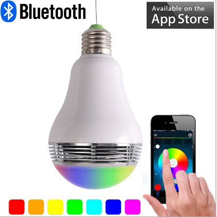 Attraktiva Trådlös Bluetooth-ljus högtalare LED-.. (300069402) ᐈ AC-Company WD-48