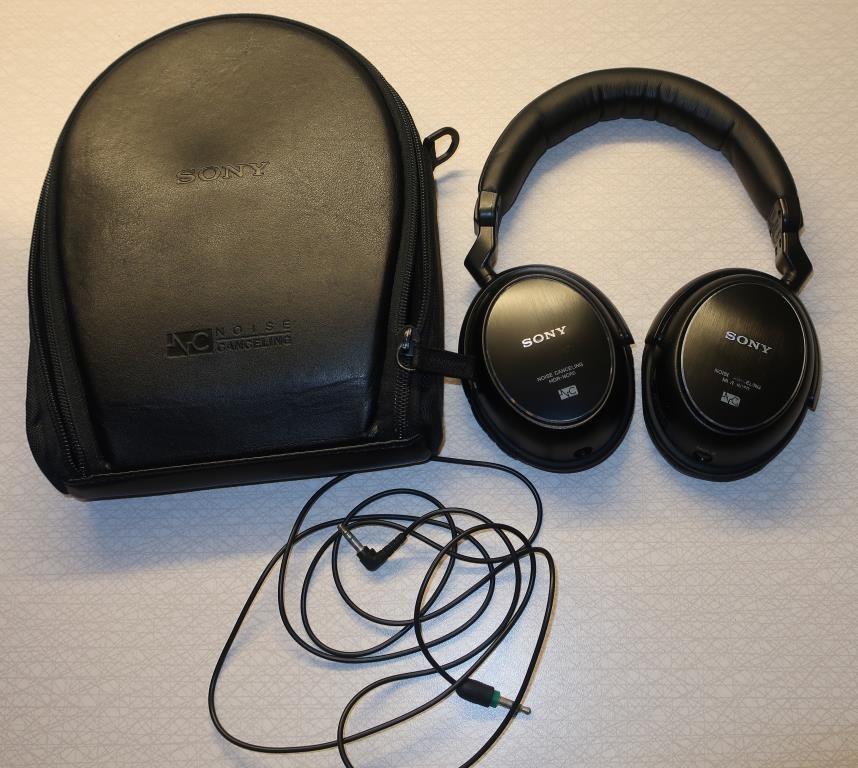SONY MDR-NC60 Black over-ear hörlurar med aktiv brusreducering - otroligt  ljud 1a2a46b99ce12