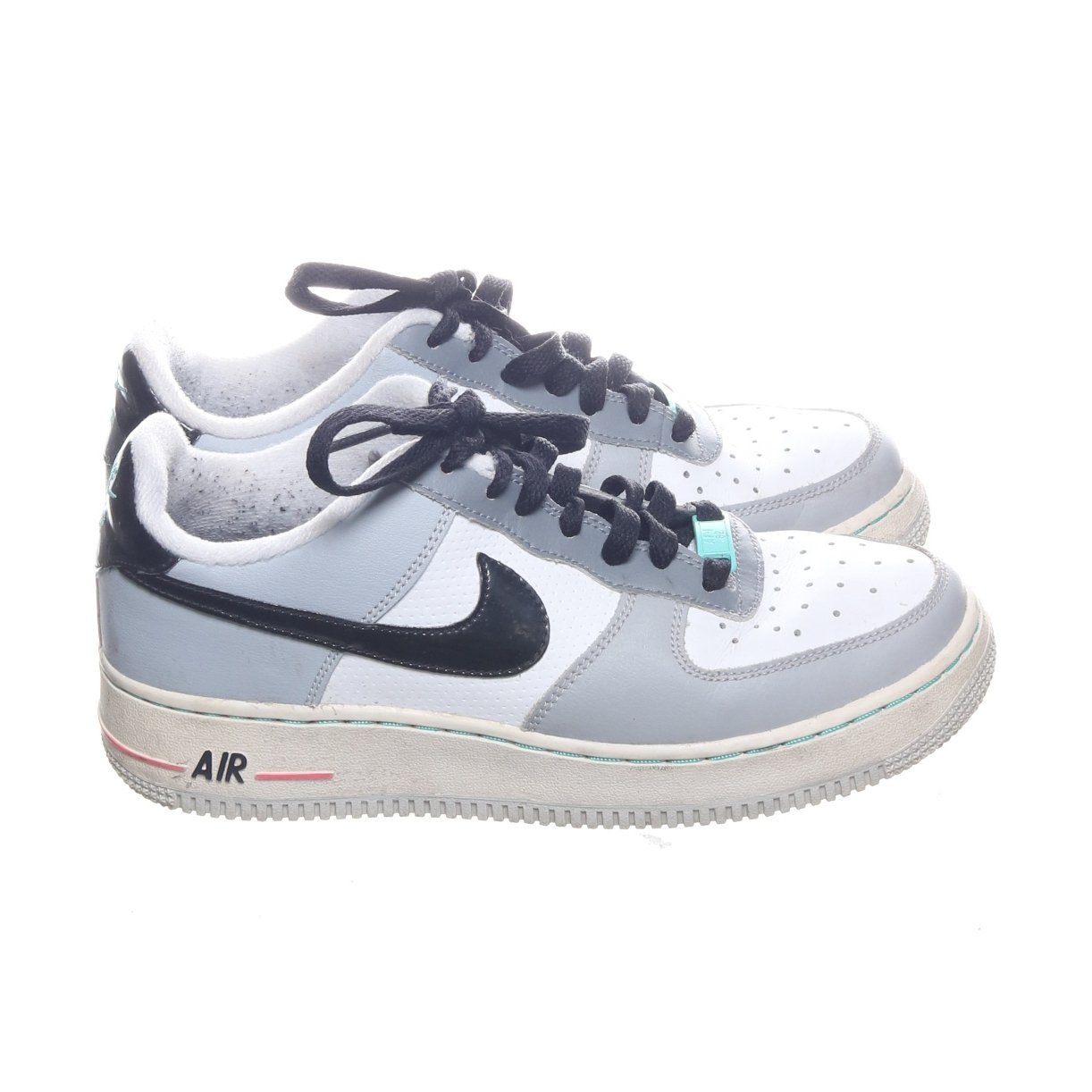 Nike, Sneakers, Strl: 38, Air Force 1, VitGråSvart