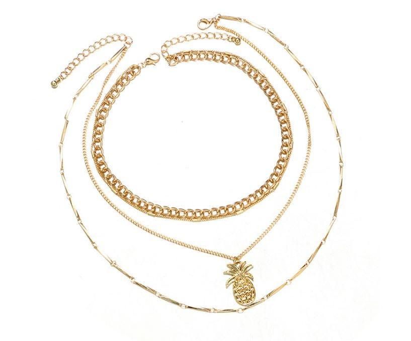 2st Halsband Guld Kedja Ananas (324055931) ᐈ Guldnyckeln på Tradera 1c6e446f0a38f