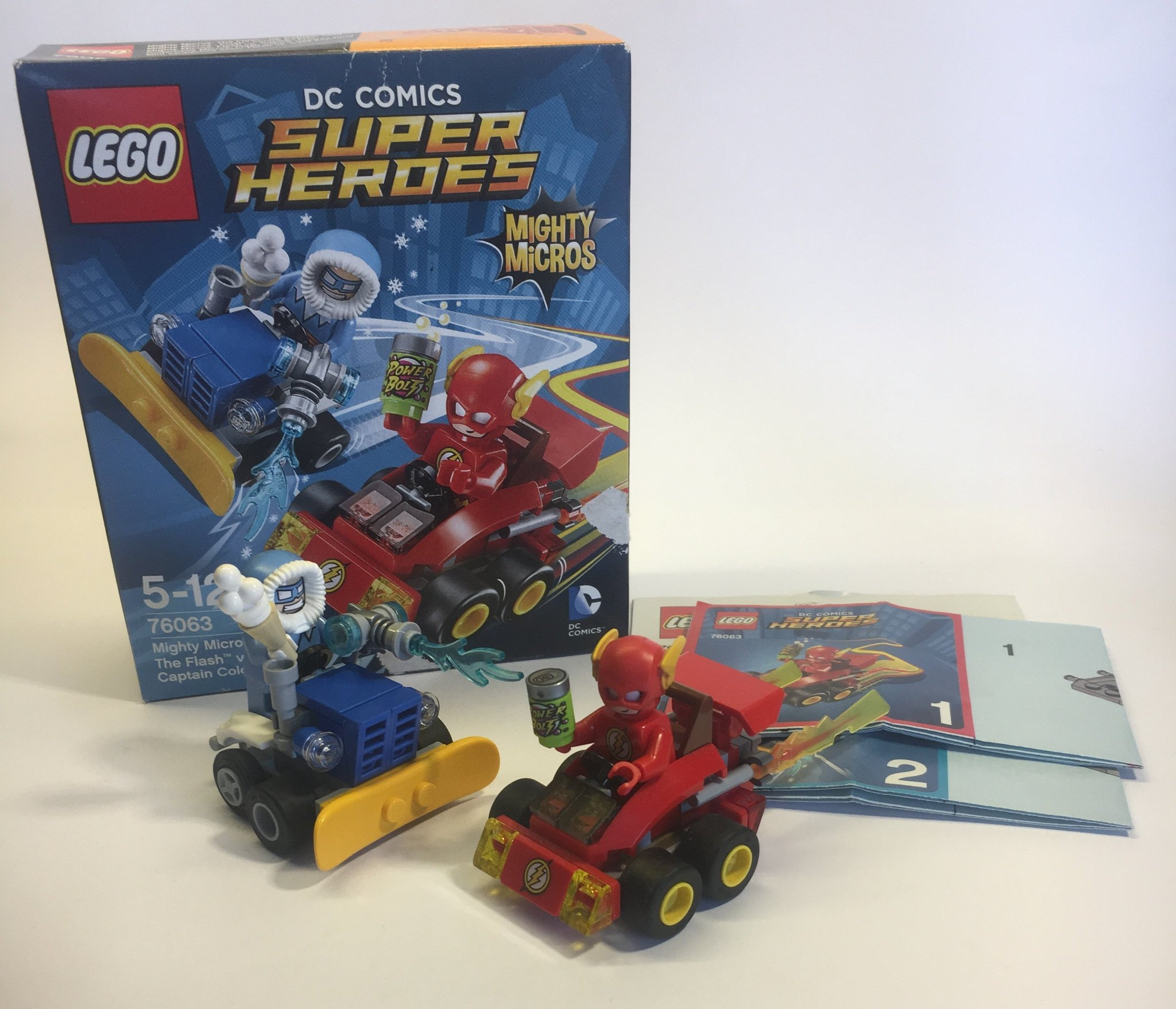 Lego Super Heroes Mighty Micros The Flash Vs Captain Cold 76063 Building Sets