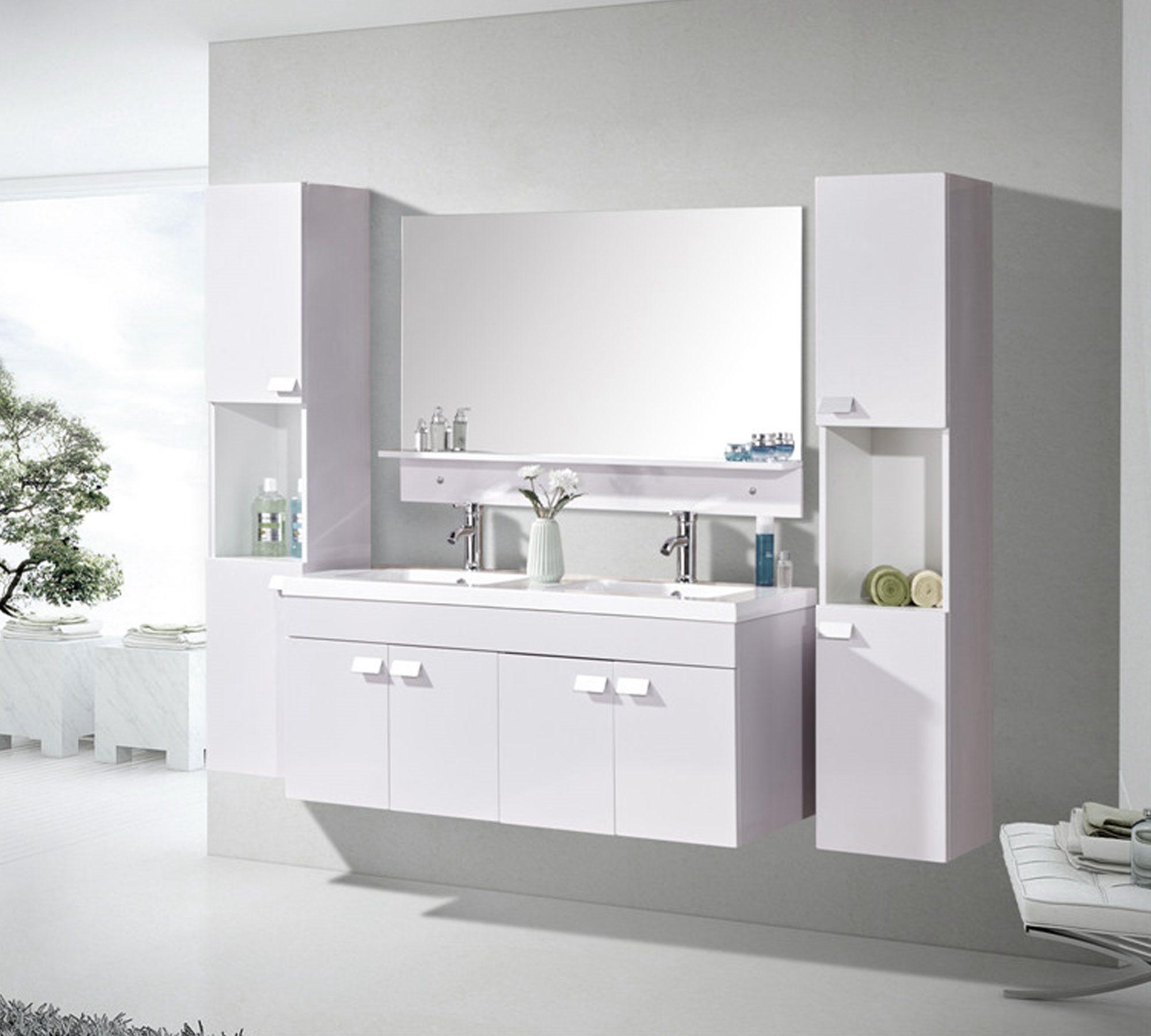 badrumsskåp med handfat ingår 120cm - WHITE ELEGANCE Simba
