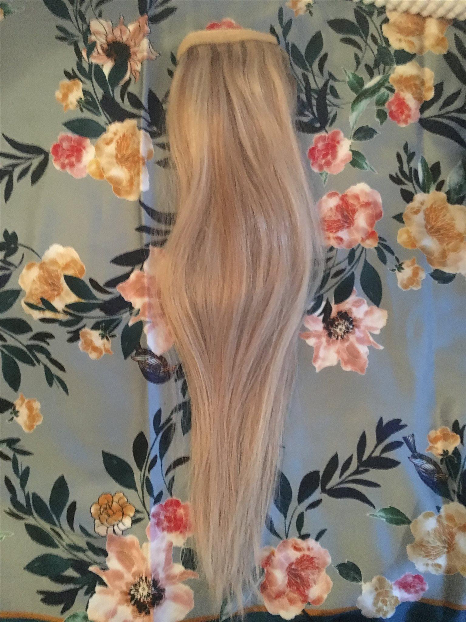 clip on ponytail äkta hår