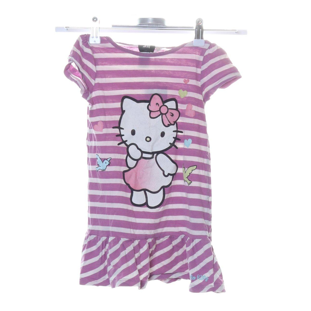 H&M kids x Hello Kitty, Klänning, Strl: 98, LilaVit