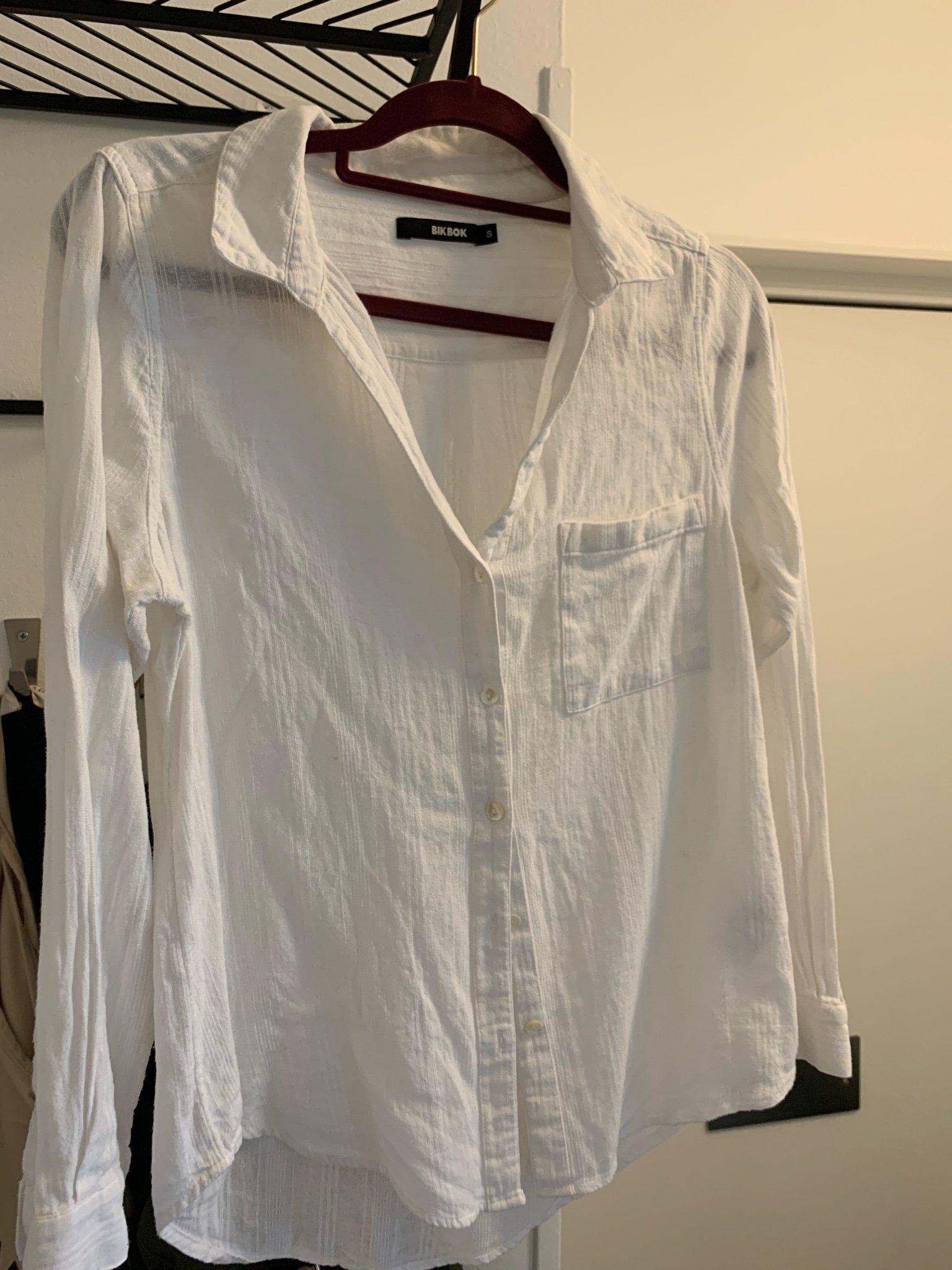 Skjorta i bomullspoplin | Damtröja, Blus och Vita skjortor