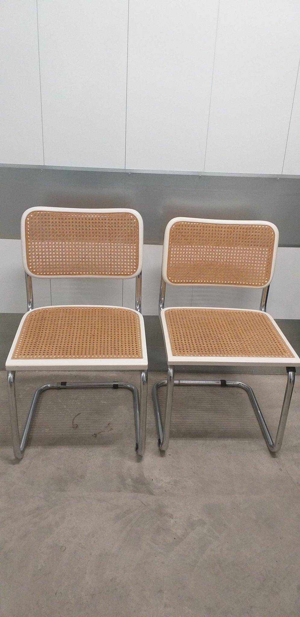 Fantastisk Två bauhaus stolar, köksstol, rotting, retro, v.. (362871004) ᐈ CF-61