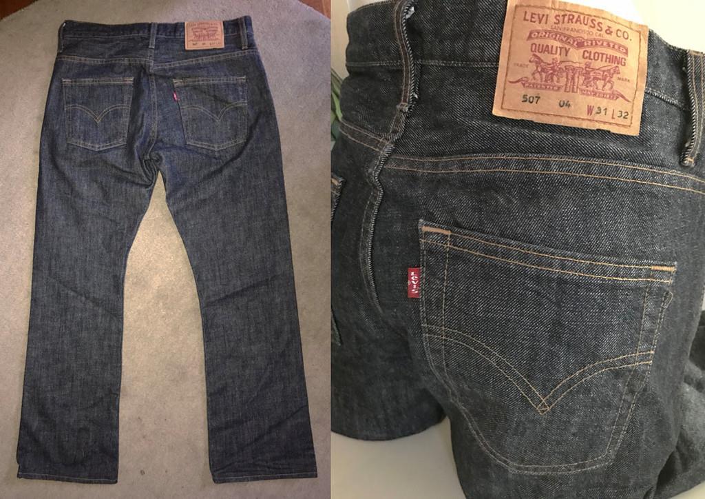 Levis jeans 507 blå byxor märkesjeans casual bootcut Levi´s Strauss W 31 01c7bd4ee2446