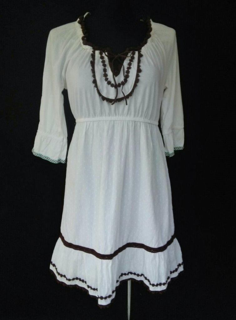 d666002830d1 Cream / klänning / boho / hippie / storlek 40 .. (284094394) ᐈ Köp ...