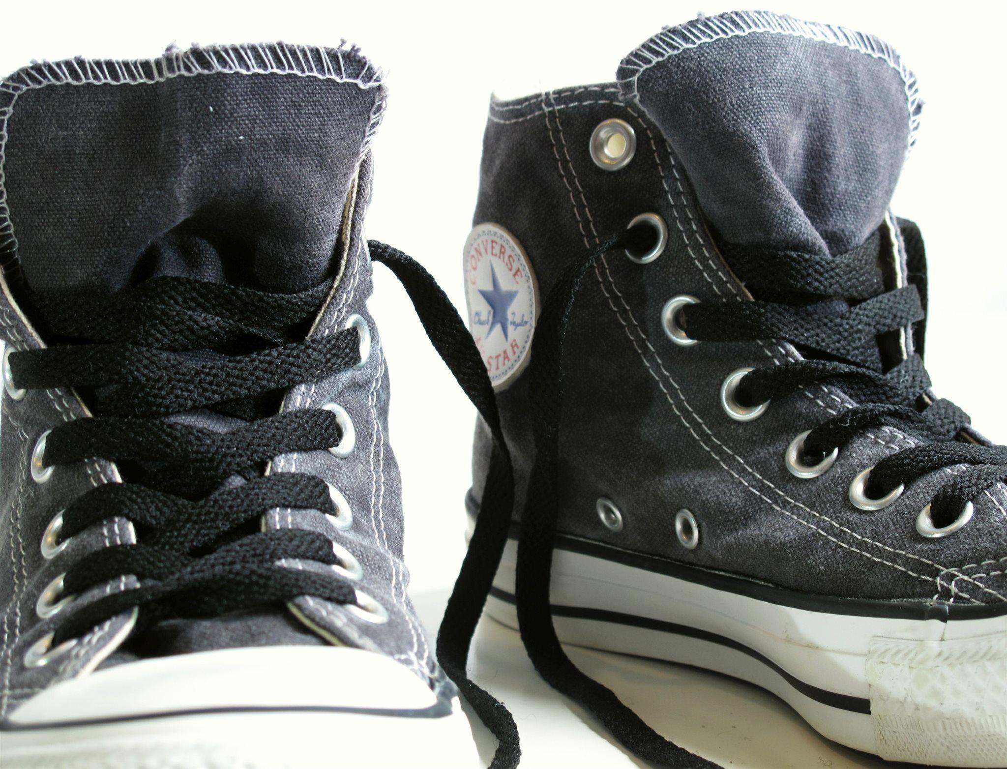 buy popular 64454 c3165 GRÅ 36 stl medel CONVERSE 5 skor höga sneakers 321144362 ZdqRKRA