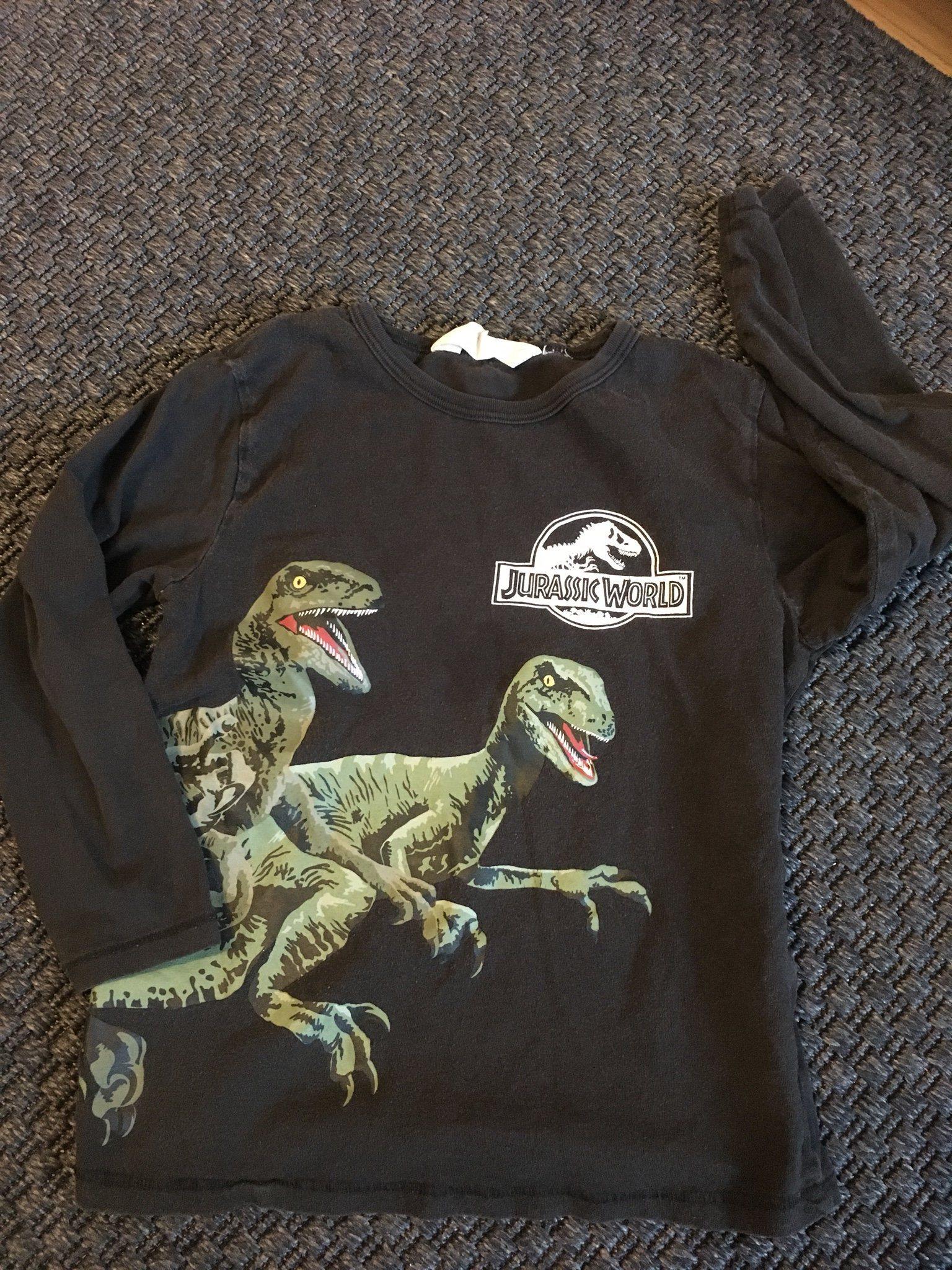 f6576db7ac31 Jurassic World långärmad tröja 110-116 (342459154) ᐈ Köp på Tradera