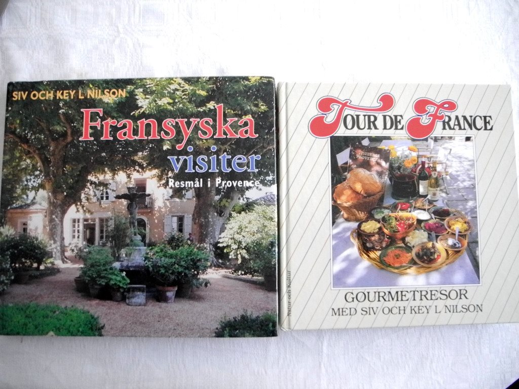 FRANSYSKA VISITER + TOUR TOUR TOUR DE FRANCE Gourmetresor Siv och Key L Nilson DEDIKATION 46586c