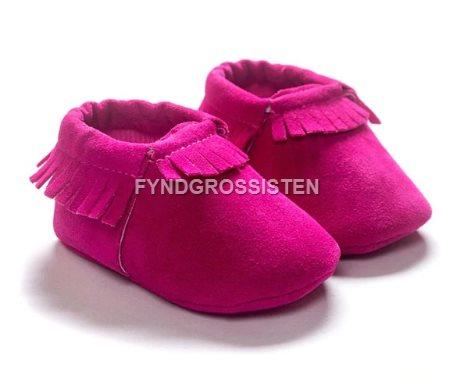 a6ba5d0eed5 Mockasiner för Småbarn 13-18 mån Barnskor Barn skor - Rosröd Fri Frakt Ny