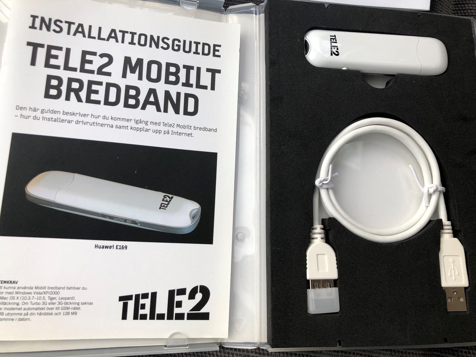 mobilt bredband med dator