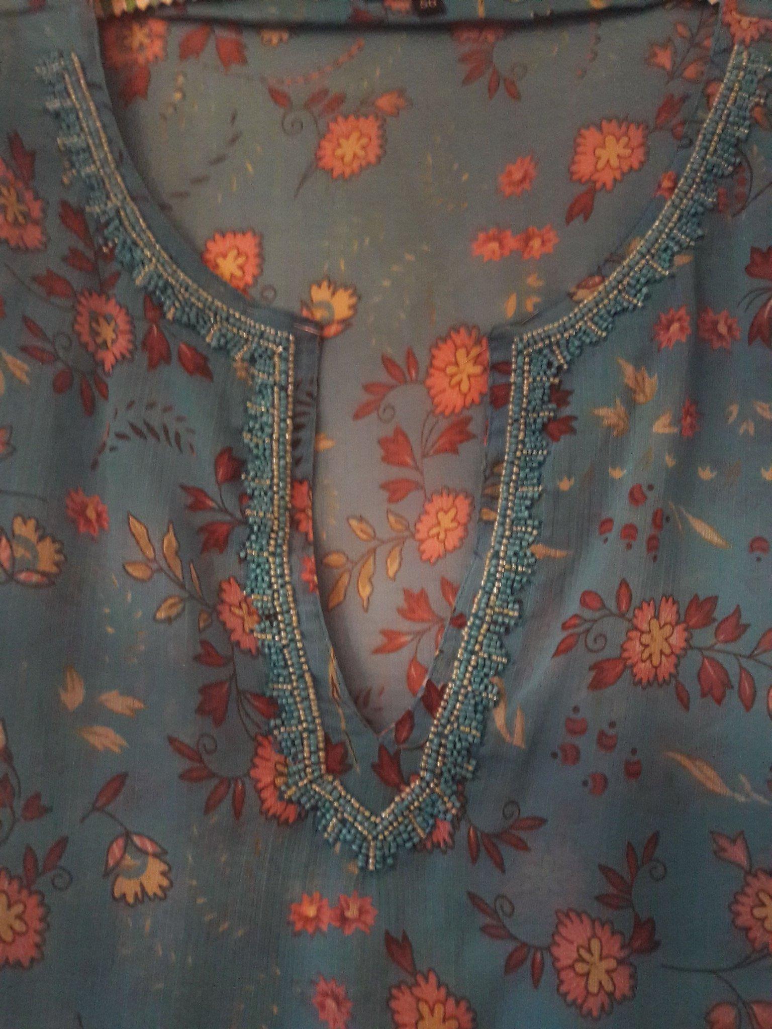 cc50ad1a8d9c Turkosmönstrad tunika stl.50 H&M (349923638) ᐈ Köp på Tradera
