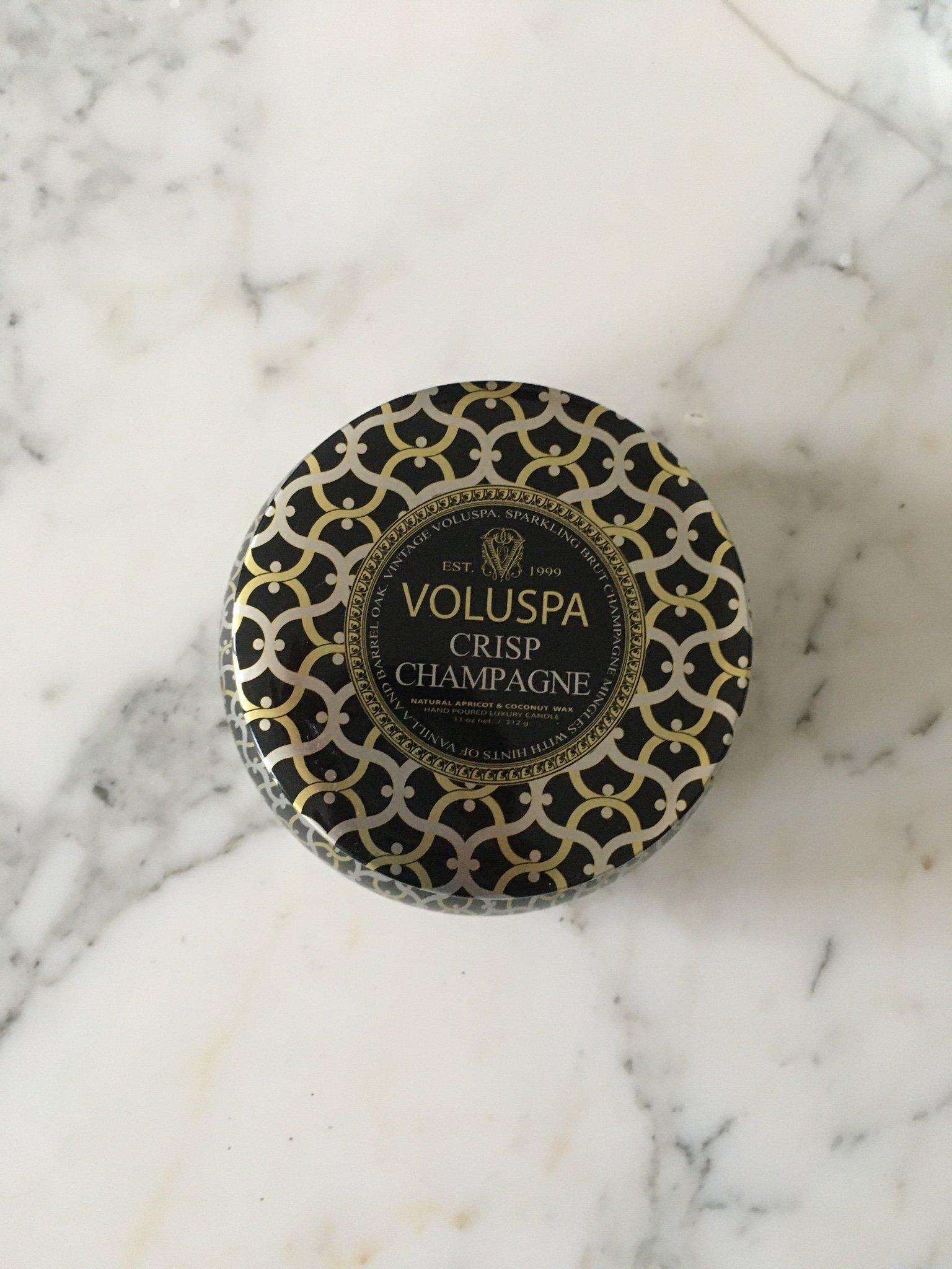 specialförsäljning storlek 7 utloppsbutik VOLUSPA stort doftljus Crisp Champagne ljus med.. (384251166) ᐈ ...
