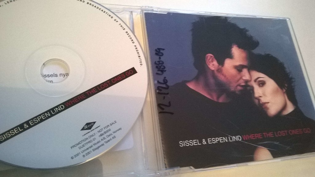 Sissel & Espen Lind ?Where The Lost Ones Go CD Single, Promo