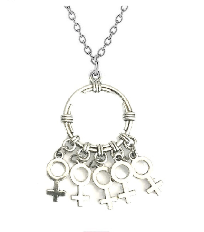 feminist symbol halsband