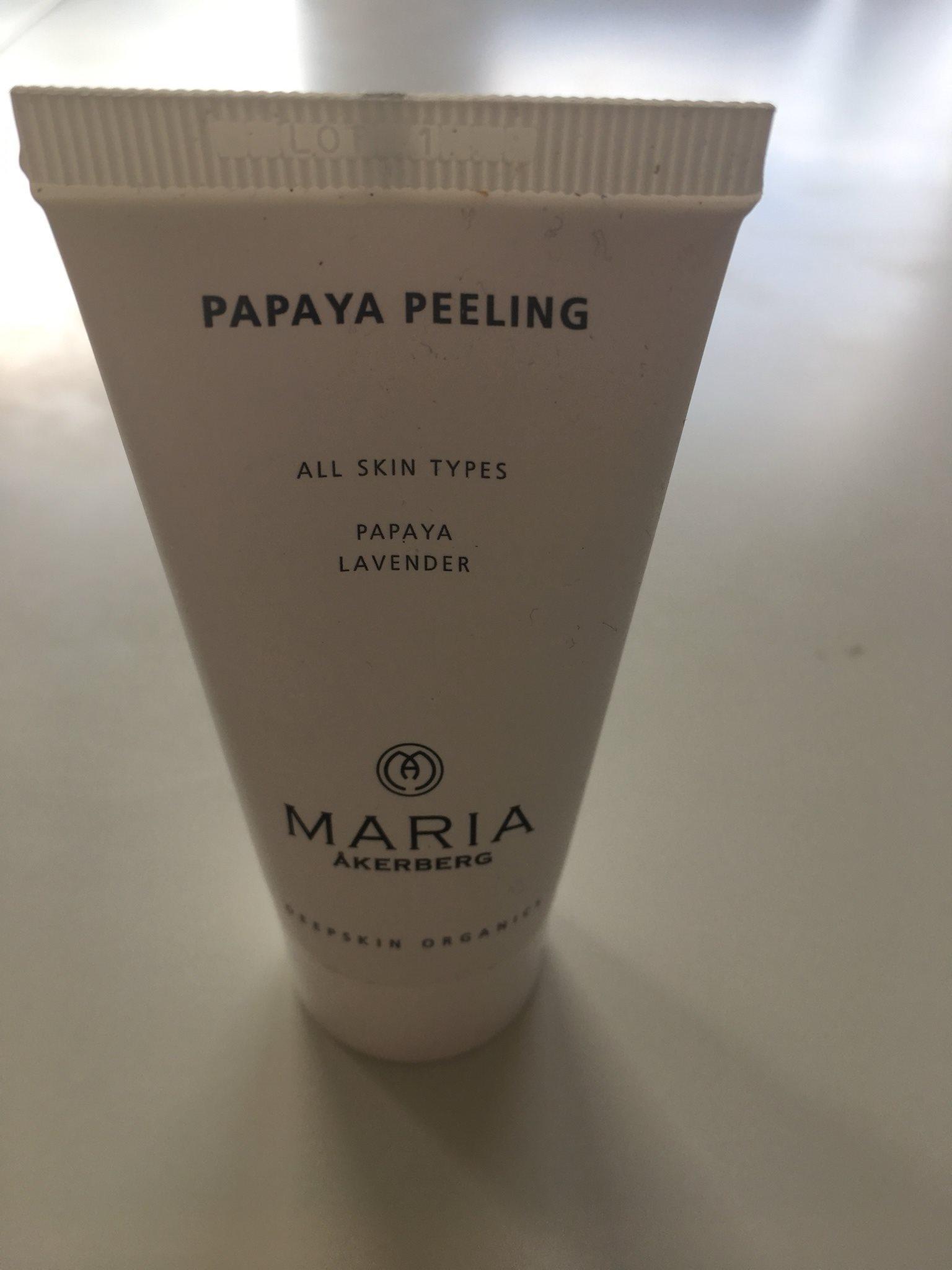 maria åkerberg papaya peeling recension