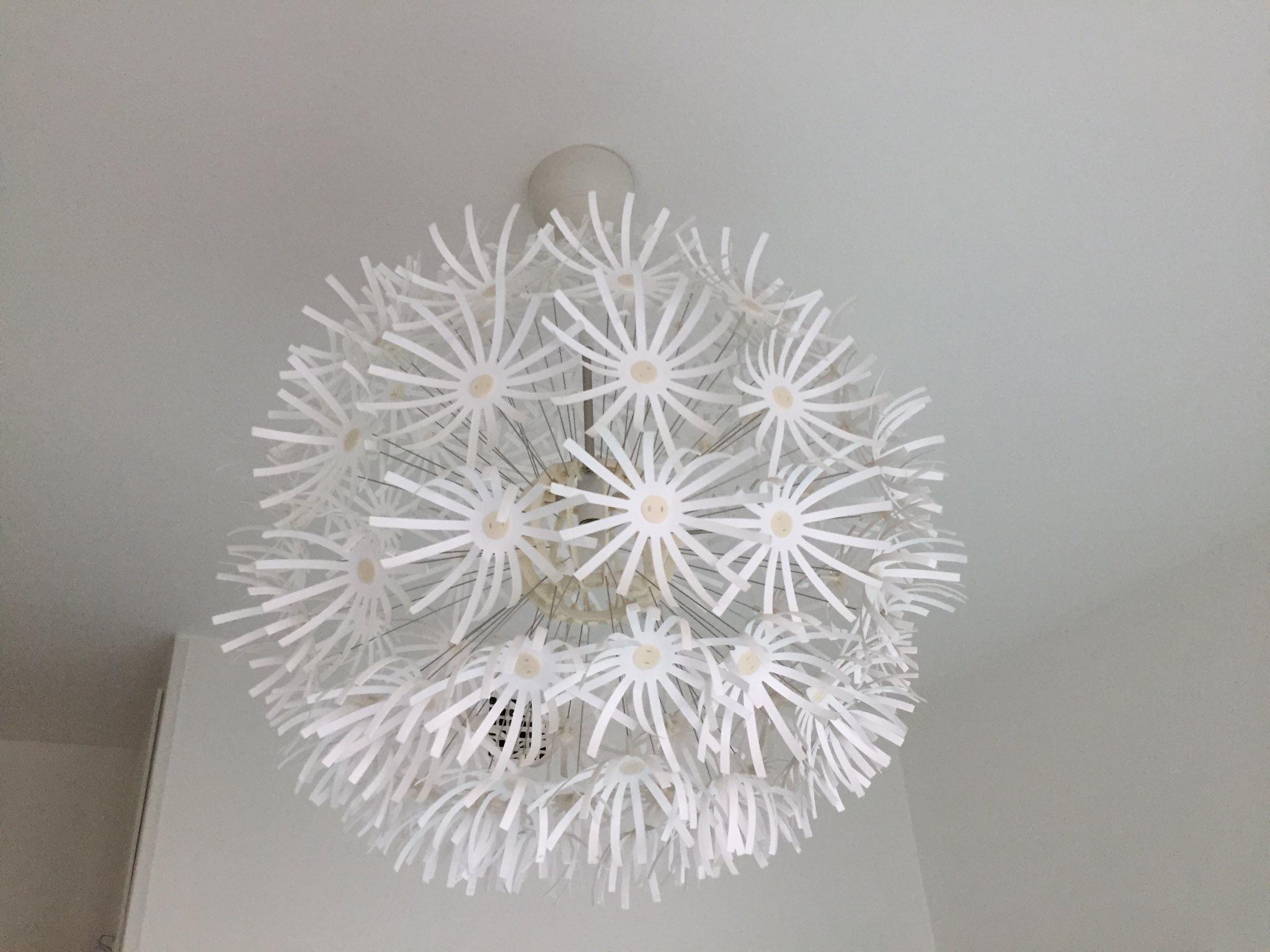 taklampa maskros ikea (323590958) ᐈ köp på tradera