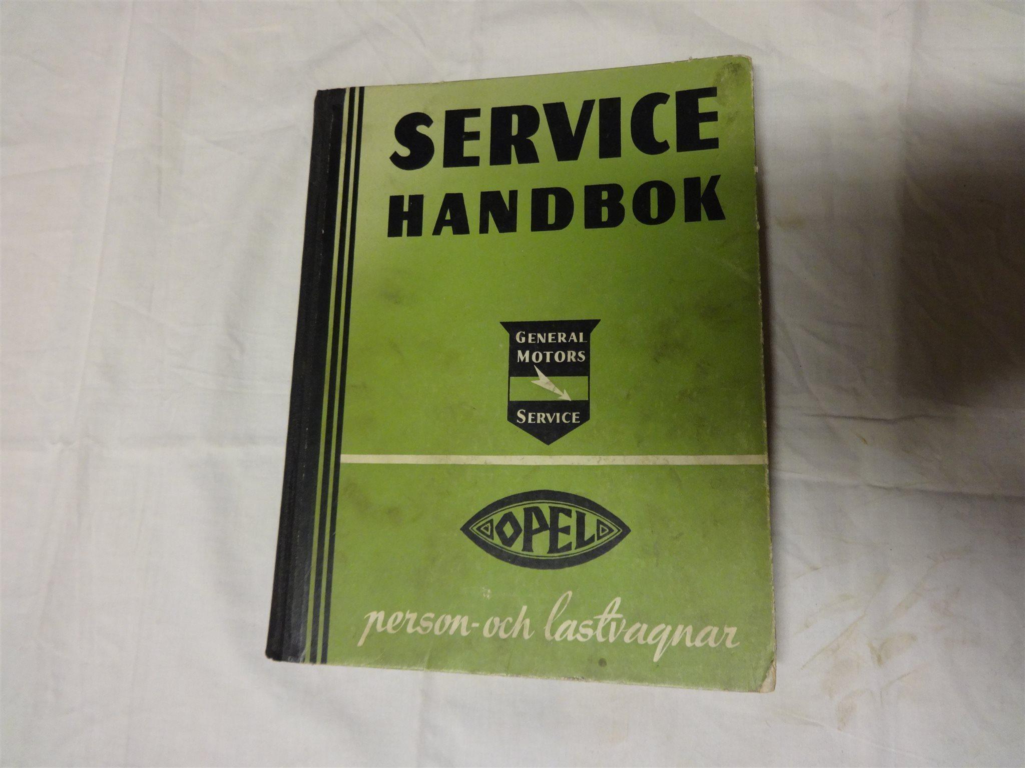Opel servicehandbok verkstadshandbok general motors nordiska 1931 - 1940