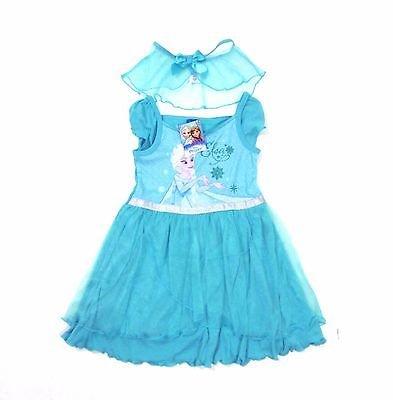 NY Disney frozen frost klänning maskerad klänning med cape, str 6 7 år
