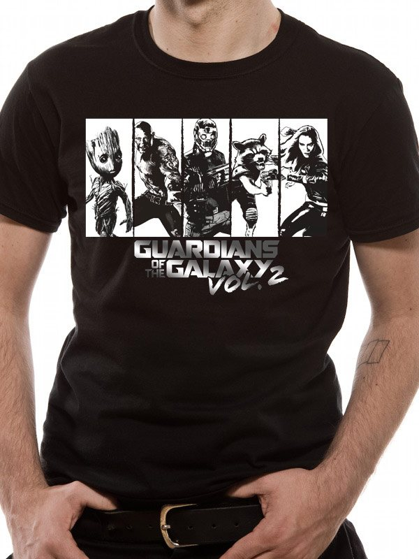 GUARDIANS OF THE GALAXY 2.0 - STRIPS SILVER (UNISEX)T-Shirt - X-Large