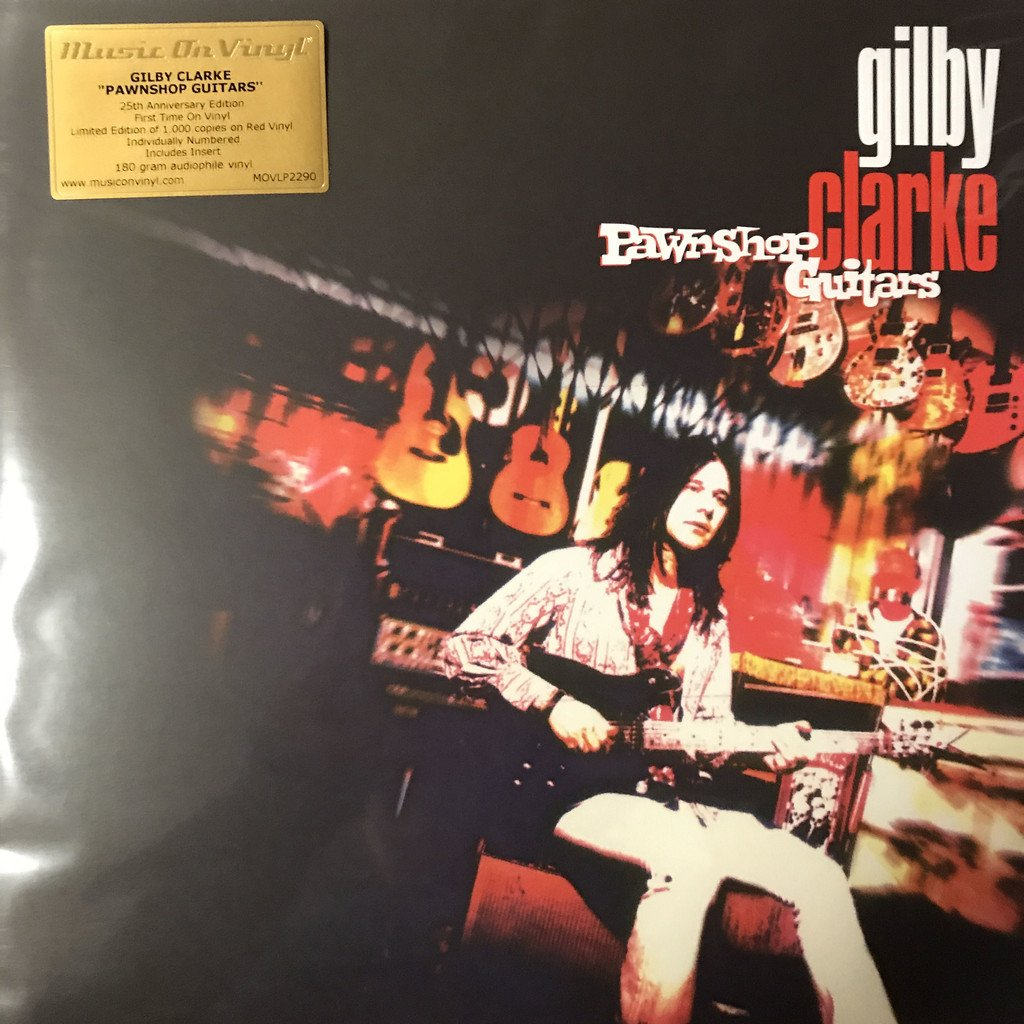 GILBY CLARKE - PAWNSHOP GUITARS NY 180G RÖD VINYL LIMITED