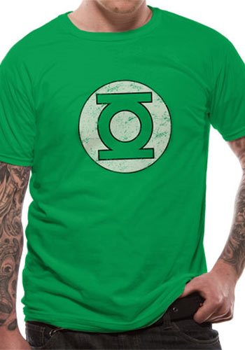 GREEN LANTERN - DISTRESSED LOGO (UNISEX) - Extra-Large