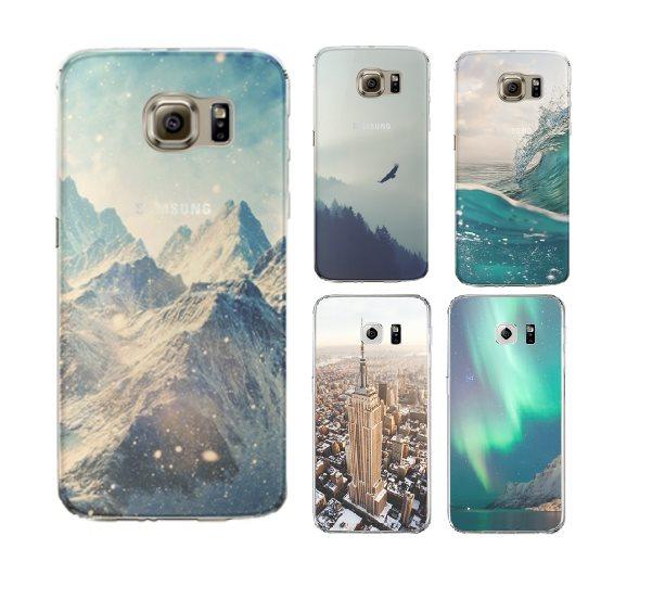 Samsung Galaxy S7 Edge mobilskal 0.3 mm silikon tpu transparent skal NY New  york ef3adaaec3794
