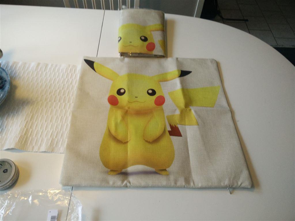 Djurkuddar : Pikachu kuddfodral nya på tradera inredning för barnrum